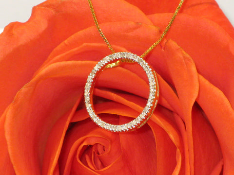 Circle Diamond Pendant  15-249
