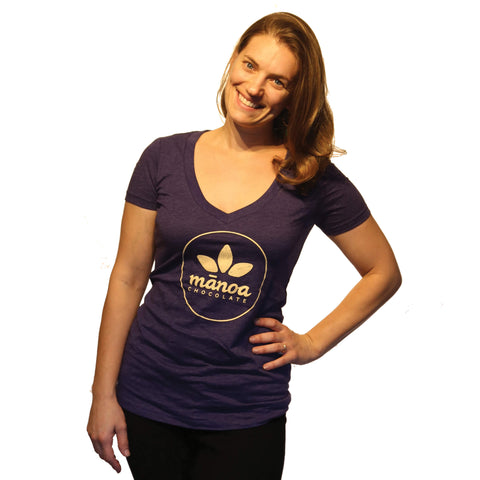 Women's V-Neck - Purple