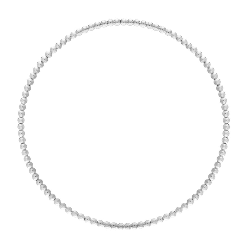 2MM Sterling Silver Ball Bracelet