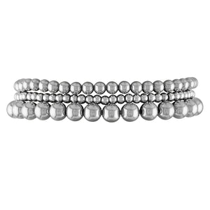 3 Stack Sterling Silver Ball Bracelet
