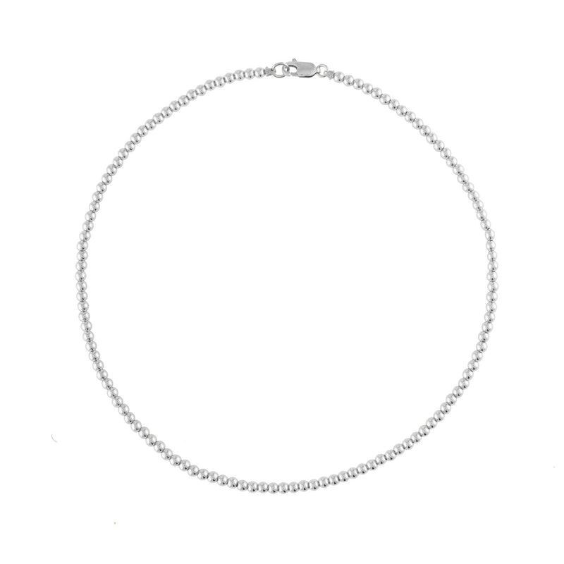 3MM Sterling Silver Ball Necklace
