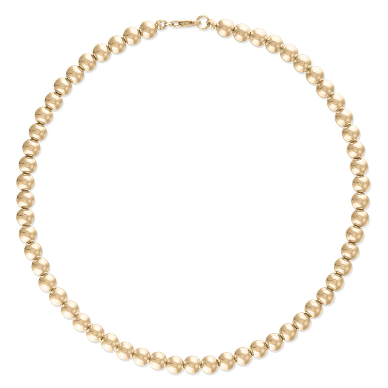 4MM Gold Ball Necklace