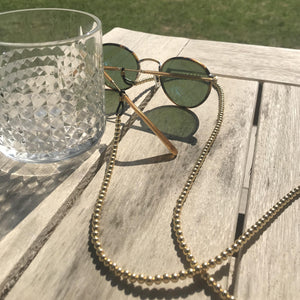 4MM Gold Ball Sunglass Chain/ Mask Chain