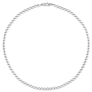 4MM Sterling Silver Ball Necklace