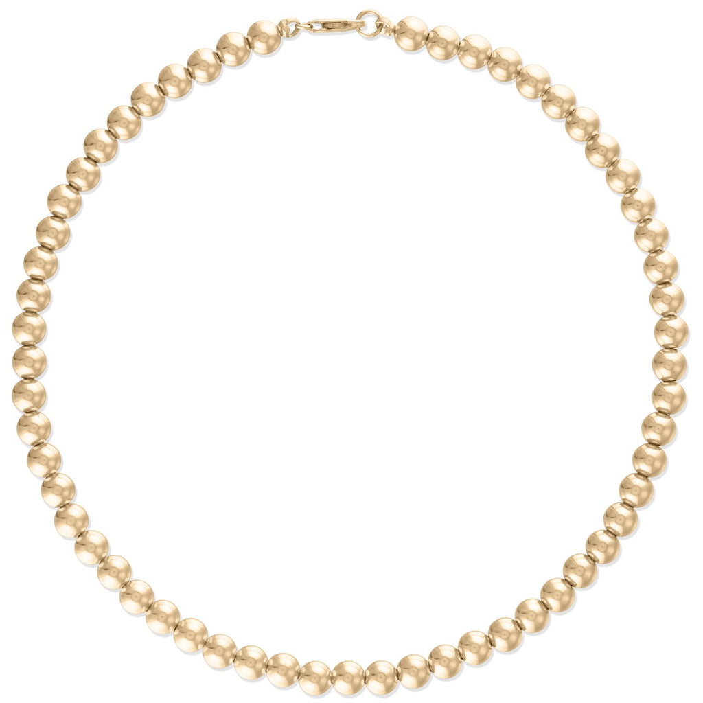 5MM Gold Ball Necklace