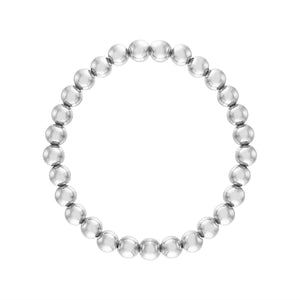 6MM Sterling Silver Ball Bracelet