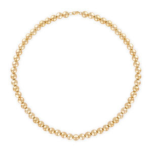 7MM Gold Ball Necklace