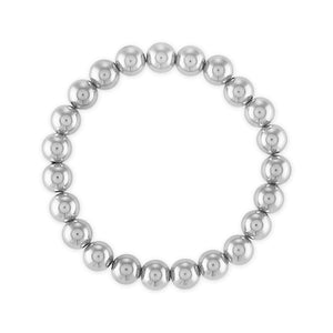 8MM Sterling Silver Ball Bracelet