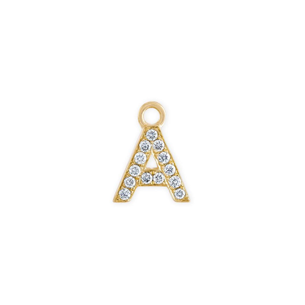 Diamond Yellow Gold Letter