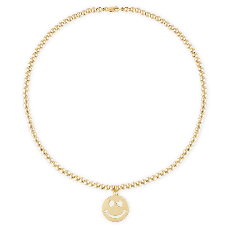 Happiness 4MM Gold Ball Necklace