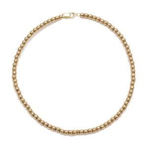 Kids 2MM Gold Ball Necklace