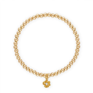 Kids Golden Flower Ball Bracelet