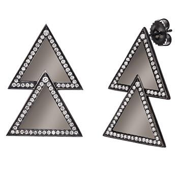 Large Double Triangle Earring