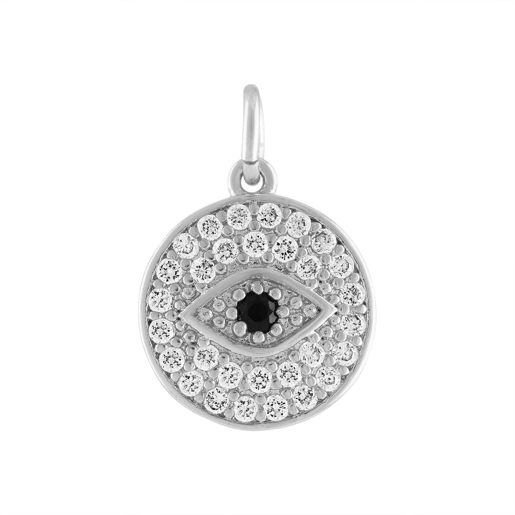 Silver Crystal Evil Eye