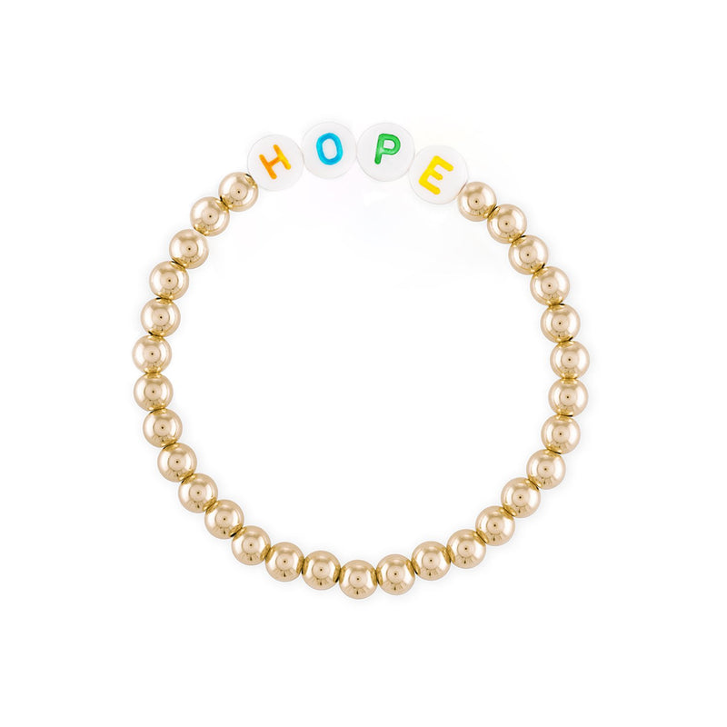 Words to Live by 5MM Gold Ball Bracelet