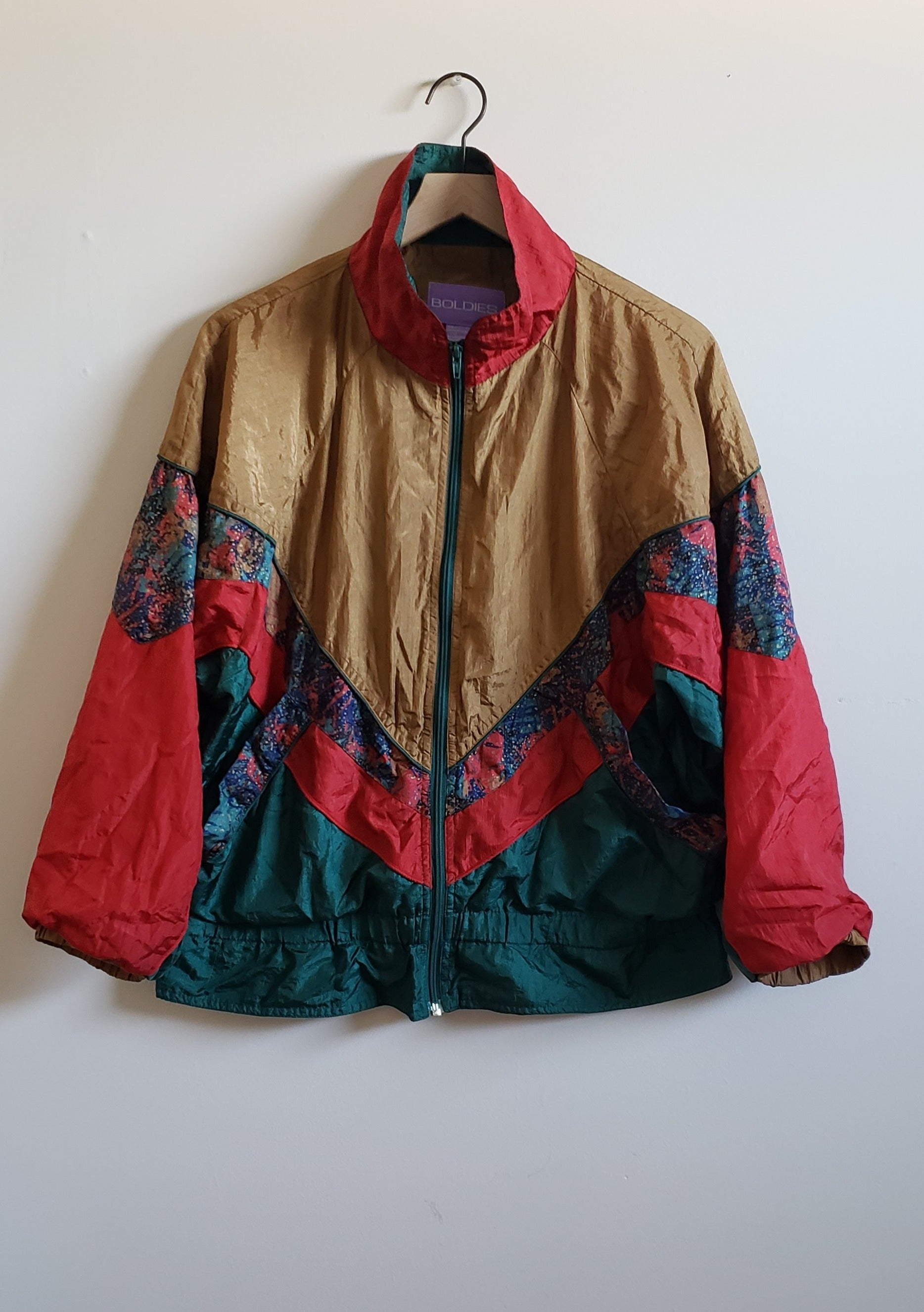 Vintage Color Block Windbreaker