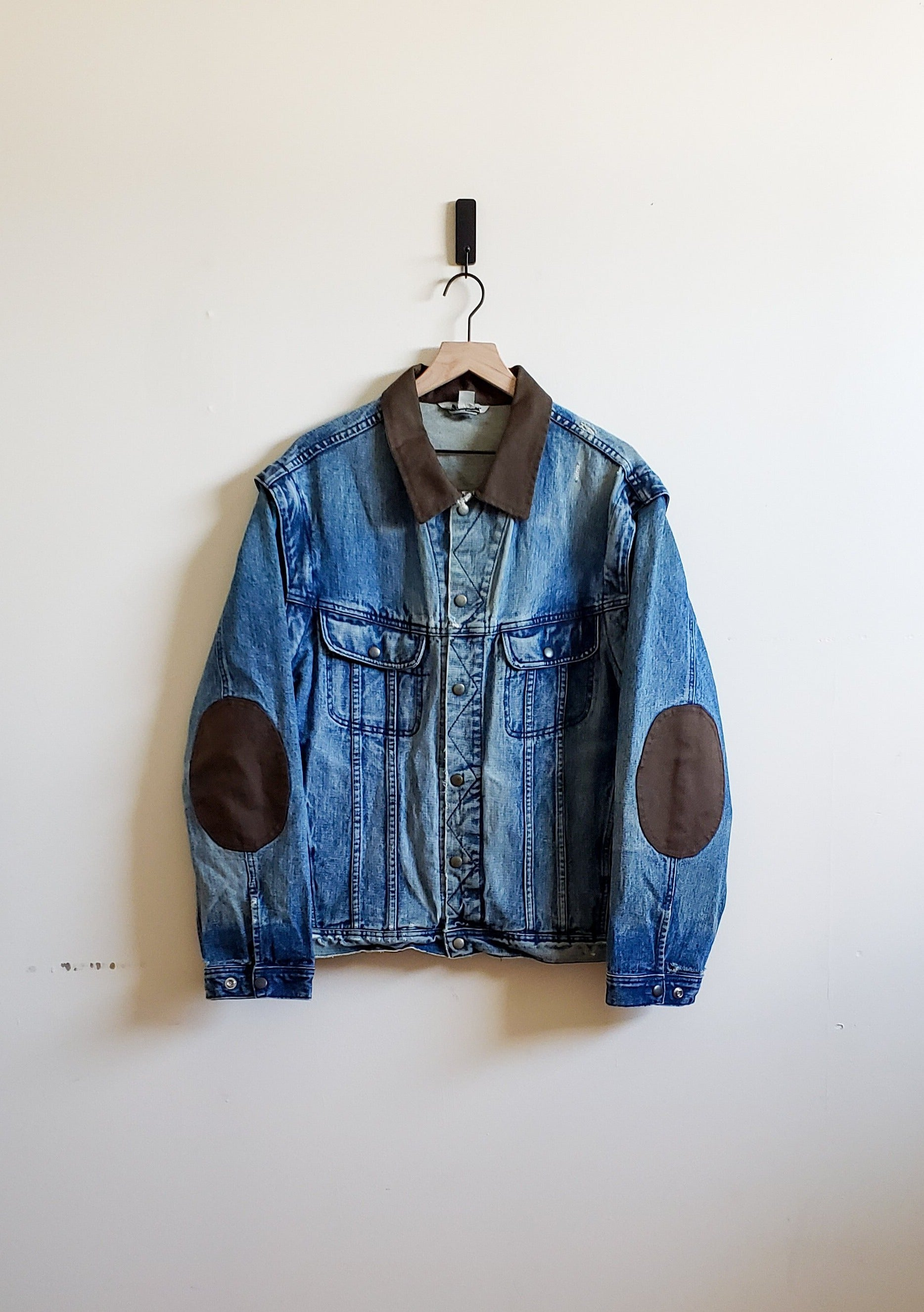 Distress Patchwork Denim