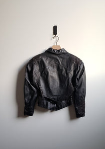 80's Leather Crop