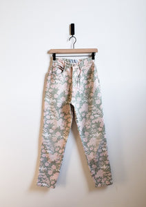 90's High-waisted Floral