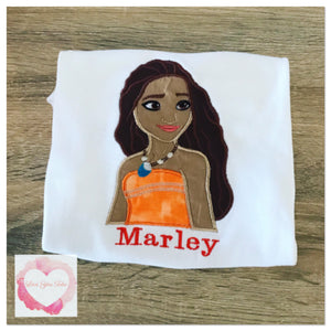 Embroidered Moana design
