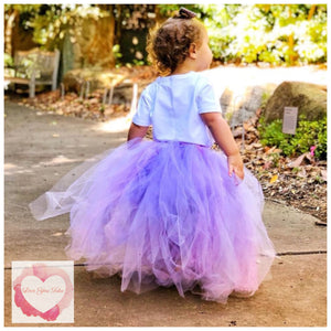 Lavender full length girls Tutu skirt