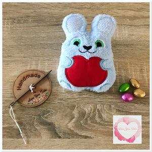 Fluffy personalised mini bunny stuffie
