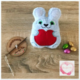 Fluffy personalised bunny stuffie
