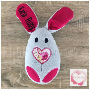 Personalised bunny stuffie