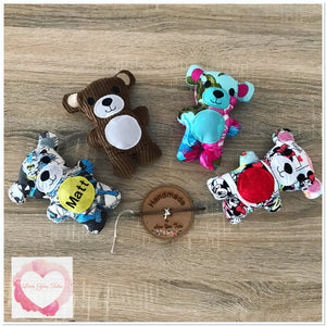 Mini personalised Teddy/memory bear stuffie