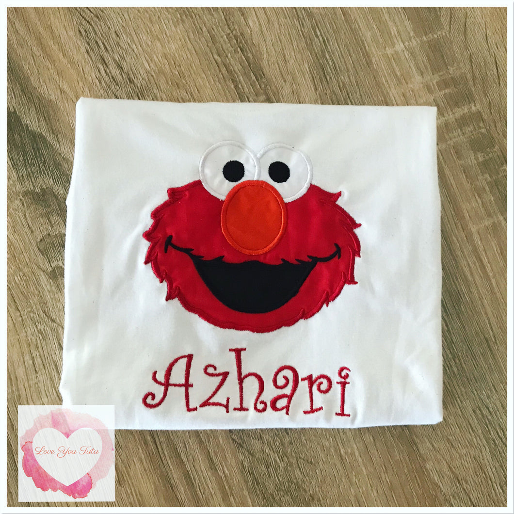 Embroidered Elmo design