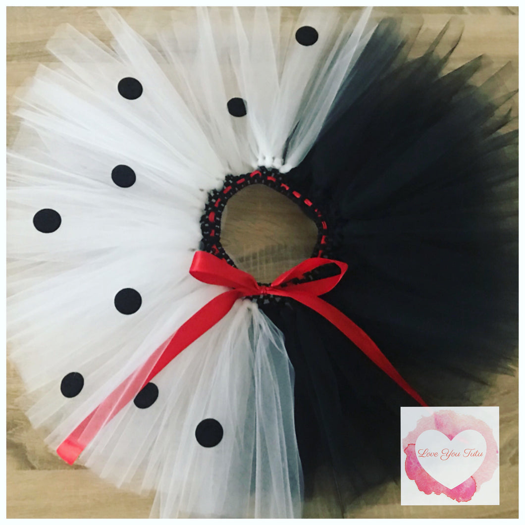 Cruella inspired Tutu skirt