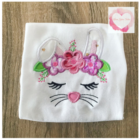 Embroidered Bunny face design