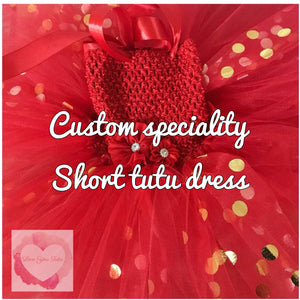 *Custom speciality short Tutu dress
