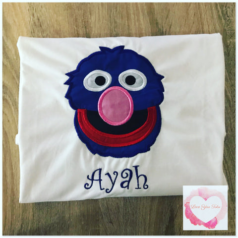 Embroidered Grover design