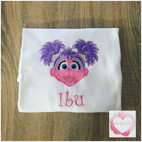 Embroidered Abby Cadabby design