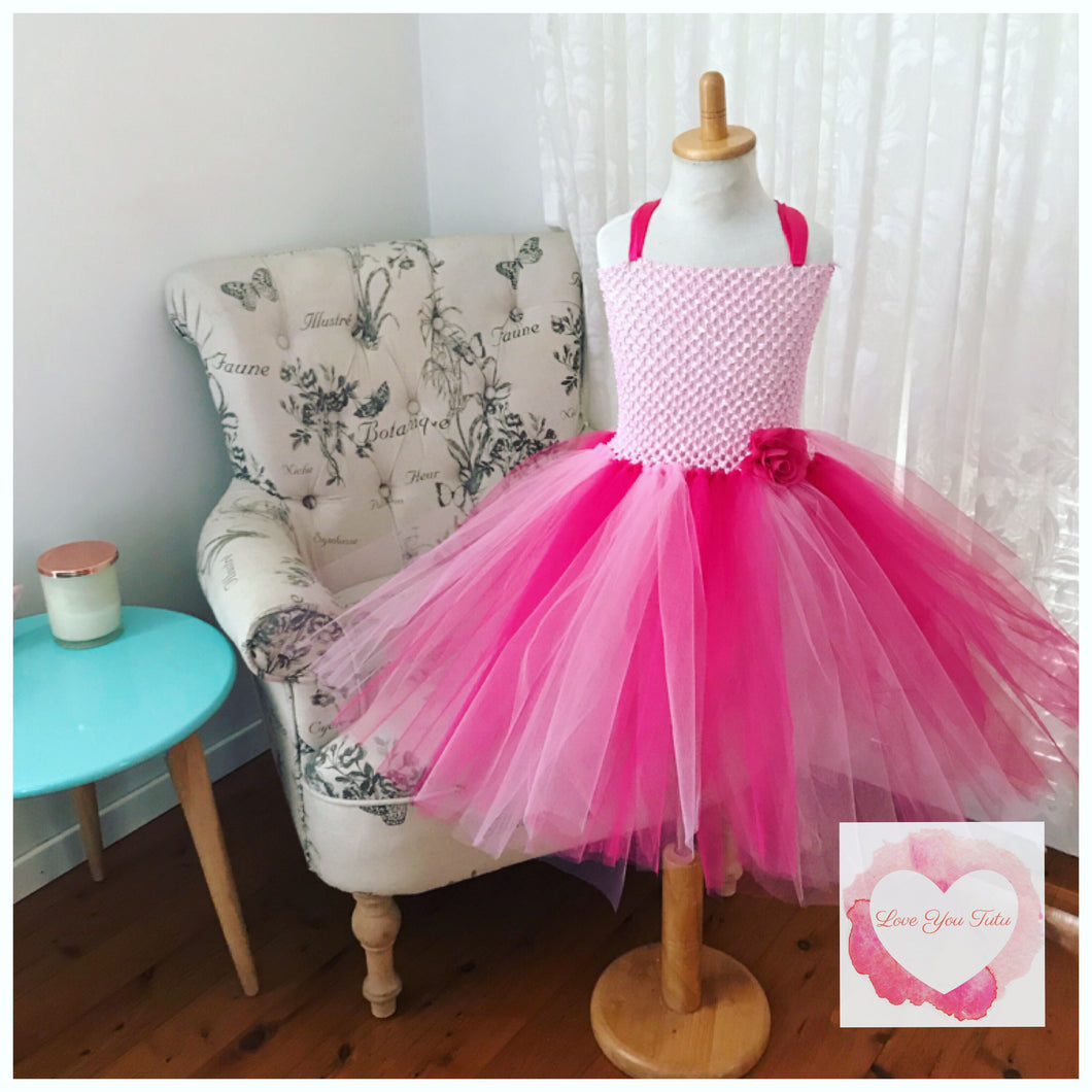 Pink & fuchsia tutu dress