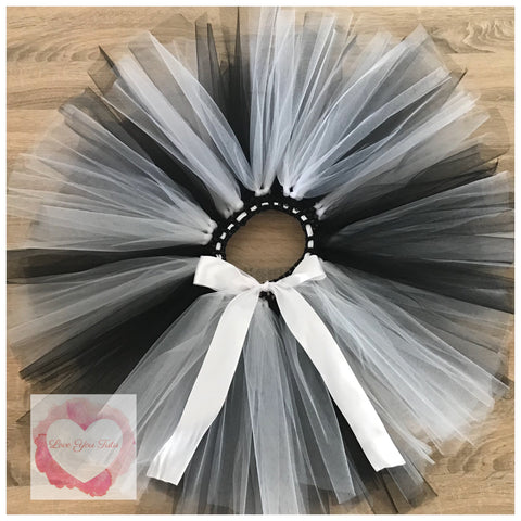 Black & white short Tutu skirt