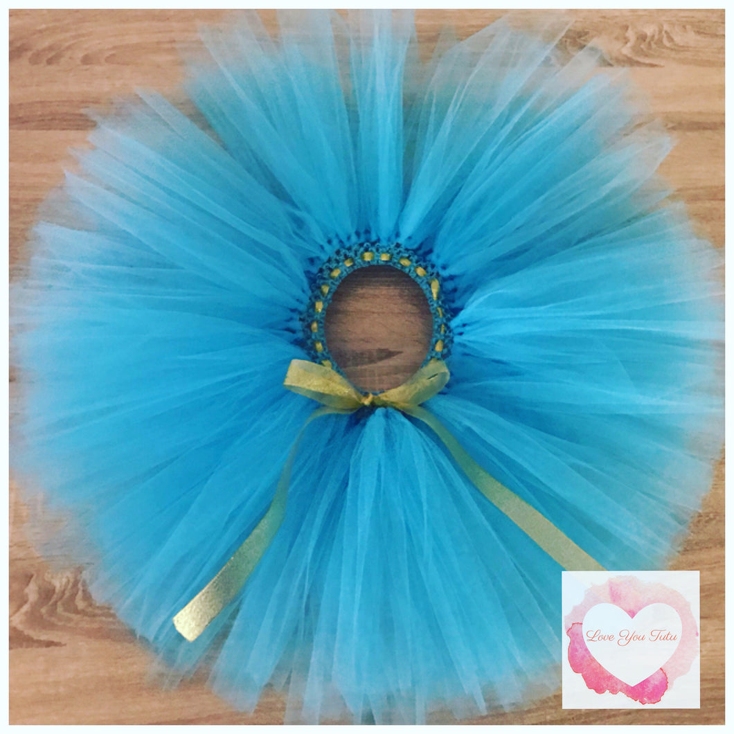 Princess Jasmine turquoise short Tutu skirt