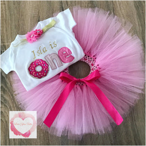 Embroidered Donut tutu set