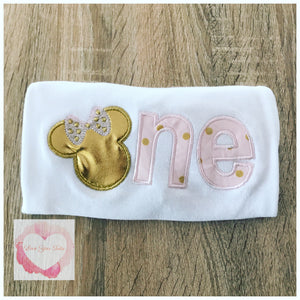 Embroidered Minnie One (gold) design