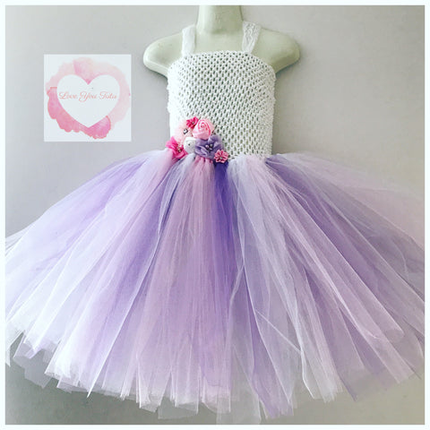 White and pastel Tutu dress