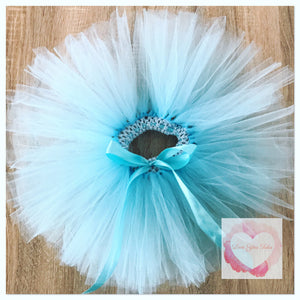 Baby blue short Tutu skirt