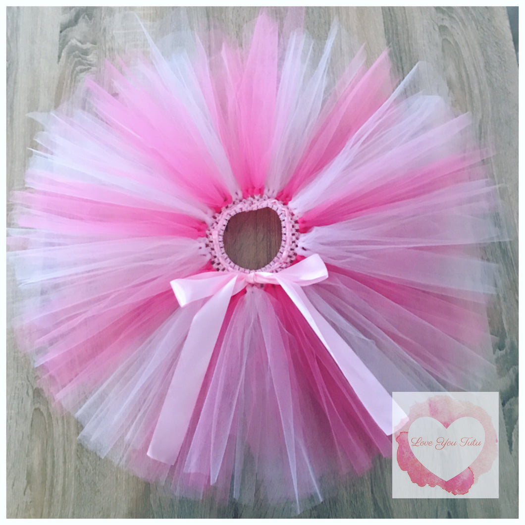 shocking Pink & baby pink short Tutu skirt