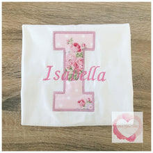 Load image into Gallery viewer, Embroidered Personalised letter design