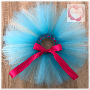 Turquoise & mint short tutu skirt