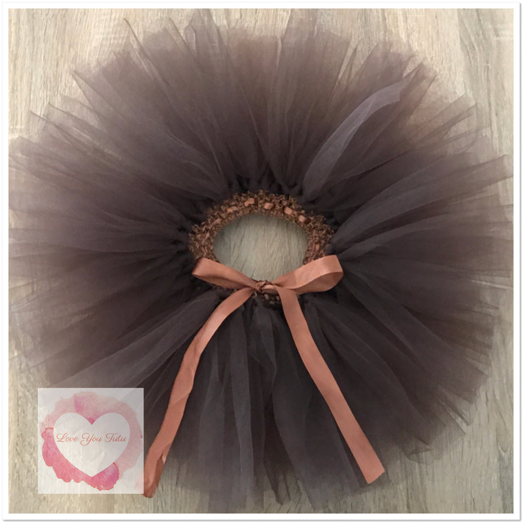 Brown short Tutu skirt