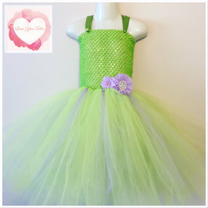 Apple green with a little lavender Tutu dress
