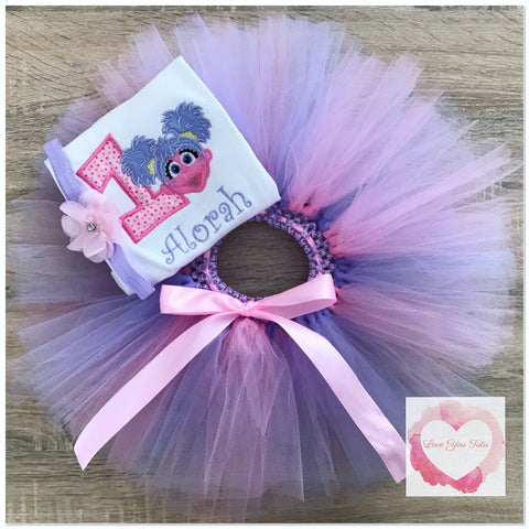 Embroidered Abby Cadabby tutu set