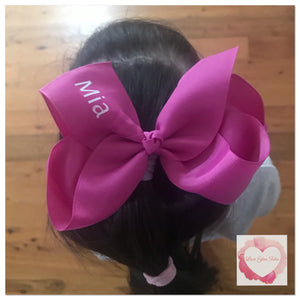 Personalised bows various colours