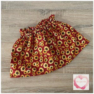 Sunflower paperbag skirt- size 5-6  -ready to ship